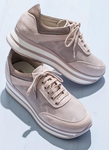 Dolgu Tabanlı Sneaker Ayakkabı-Elle
